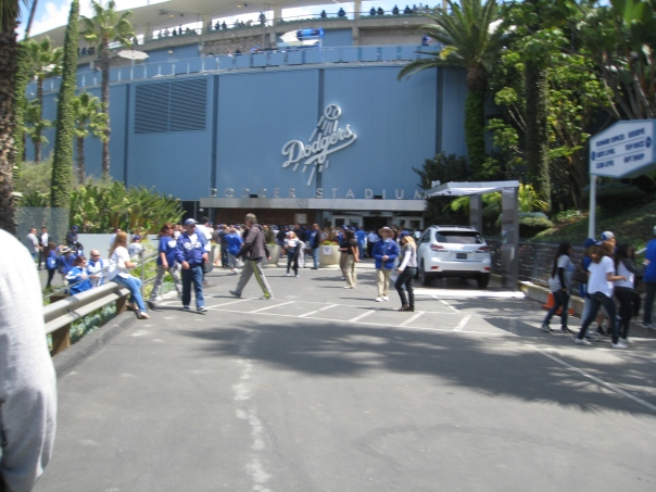 Dodger Stadium was at full capacity (53,138) on Monday's Opening Day.  It was 66 Degrees at Game Time.  With the MLB' biggest payroll right now, the Dodgers have heavy expectations in 2013.  They won 4 - 0 on Mondays game - before dropping back to back games to the Giants