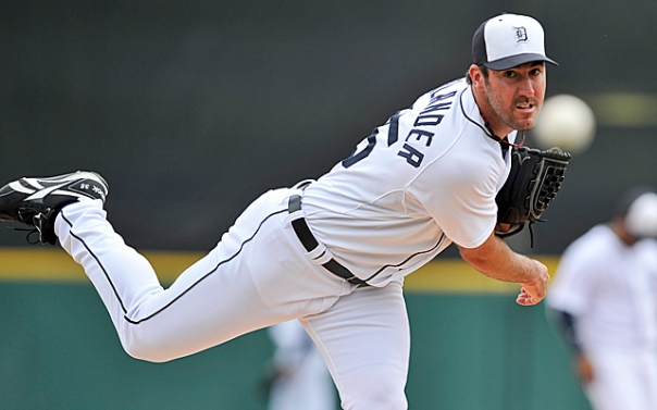 Justin Verlander is one of about 10 True Pitching Aces in the game right now that are starters.  Verlander can throw 100 MPH at any time in the game, plus seems to ramp it up as the game progresses.  The 30 Year Old just signed a massive contract extension that runs through 2019.  His 7 YR Deal is worth $180 MIL, and there is a Vesting Option for 2020.  JV is having his toughest season a pro - with a 10 - 8 record - and a 3.99 ERA in 2013 so far.  He is still 134 - 73 (.647) for his career - with a 3.45 ERA.  He has a CY Young (2011), and 4 other top 7 CY Young Voting Finishes