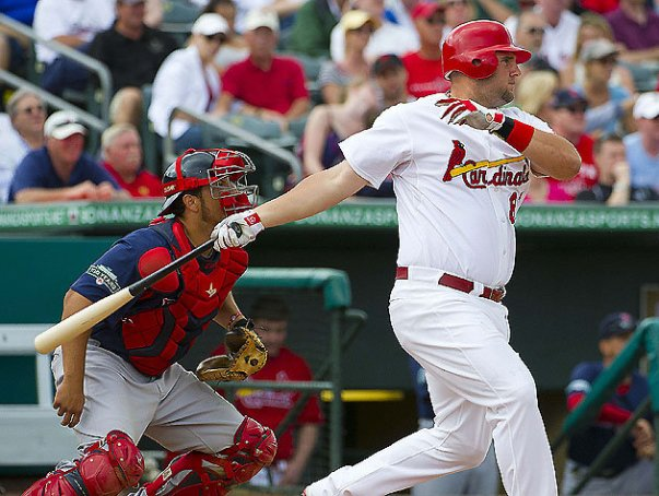 Matt Adams is absolutely crushing the ball in his 21 AB during the young 2013 season.  He has clubbed 3 HRs - driven in 8 RBI - while posting a 3 Slash Line of .524/.564/1.613.  Will the organization be able to find room for he or even Oscar Taveras for that matter?