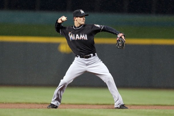Nick Green, 34, has a career .303 OBP in the Majors. He has been forced into duty as the Marlins starting shortstop with Adeiny Hechavarria on the DL.
