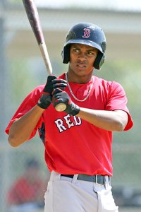 Xander Bogaerts is sort of the opposite player that Jose Iglesias is. His bat is what is carrying him up the professional baseball ladder. He is a top prospect in all of baseball without a doubt, but will he stick at Shortstop long term?