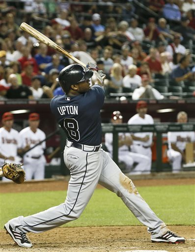 Justin Upton clubbed 12 HRs and 19 RBI for April.  A month where they sprinted 12 -1 out of the starting blocks.