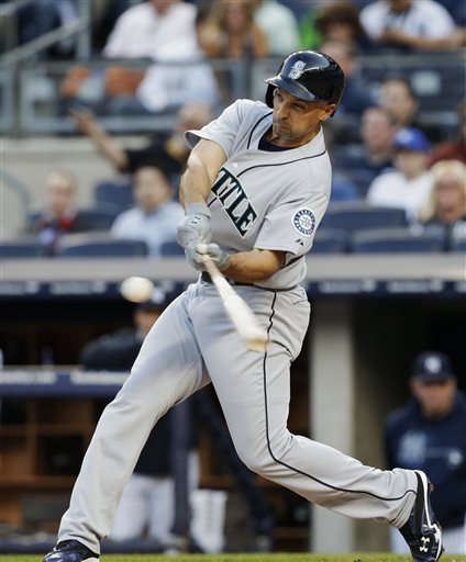 Ibanez had 1004 RBI in the last 11 Years and he clubbed  338 of those from 2006-2008 with the Mariners.  He is likely to see around 350-400 AB this year.  Ibanez has hit HRs in consecutive days - hitting 1 HR on Tuesday versus the Yankees - before exploding for a Grand Slam and a 2 run shot yesterday versus his old Yankees Teammates.  He is currently on a 5 Games Hitting Streak ( 8 - 19, .421) with 5 HRs and 12 RBI