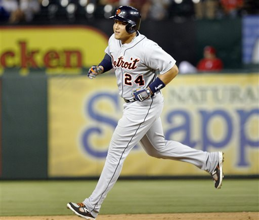 Miguel Cabrera challenged for a 2nd straight Triple Crown in 2013 - before injuries slowed him down. I am hoping that the Tigers will move him into the Designated Hitter role as early as 2015 to preserve his health long - term.