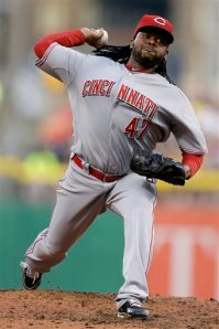 Cincinnati Reds starting pitcher Johnny Cueto was one of the four players who owned baseball on May 31, 2013. (AP Photo/Gene J. Puskar)