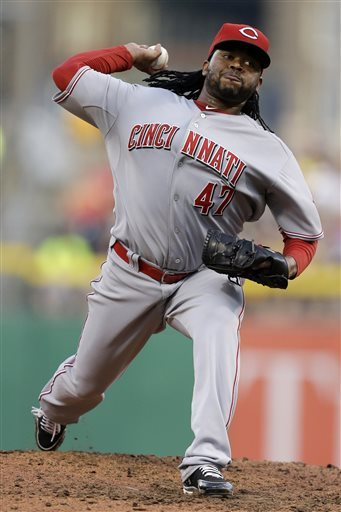 Johnny Cueto was only able to stay healthy on the mound for 11 Game Starts in 2013.  It is obvious the club will need more production from him considering perennial 200 IP+ Veteran Bronson Arroyo is leaving the club's fold.  Cueto has featured great ERA's in the last 3 years, by going 2.31. 2.78 and 2.82.  The 27 Year Old had his best season in 2012, going 19 - 9, and starting an NL leading 33 Games.  He finished 4th in NL Cy Young Voting.