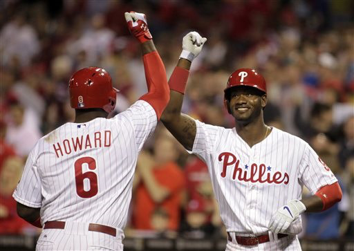 Domonic Brown must continue to improve as a hitter with consistency and Howard must stay on the field.  Brown had 27 HRs in 2013, but 85% of them came before the ALL - Star Break.  Howard has only played half of the games in the last 2 years.  If both men can hit between 25 - 30 HRs, it would help a power struggling team.