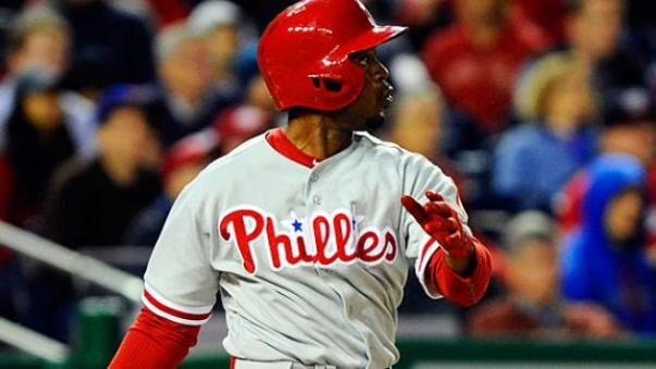 Jimmy Rollins (.309) and Ben Revere (.302) were the only regulars in the lineup last night to feature an OBP of over .300.  Despite that, plus a 1 - 8 start from Cole Hamels - and losing Roy Halladay for the season, the club is within 1 win of .500 heading into their 54th game tonight.  Otherwise know as the 1/3rd mark through the season.