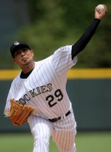 Jorge De La Rosa is already 6th on the ALL - Time Franchise Win List with a Record of 53 - 34.  Where so many Pitchers have struggled to have success - he has a 35 - 12 Record and a 4.21 ERA in Denver.  He was acquired from the Kansas City Royals a month into the 2008 year.  The man was originally drafted as an amateur Free Agent by the Arizona Diamondbacks.
