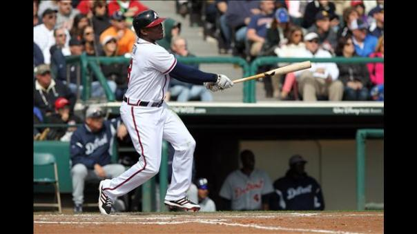 Justin Upton came to Atlanta a year after finishing 2012 with .280/.355/.430 slash line and only 17 HRs.  So far he is .278/.380/1.037 - with 12 HRs and 21.  For his efforts, Justin Upton is our NL Hitter of the Month.