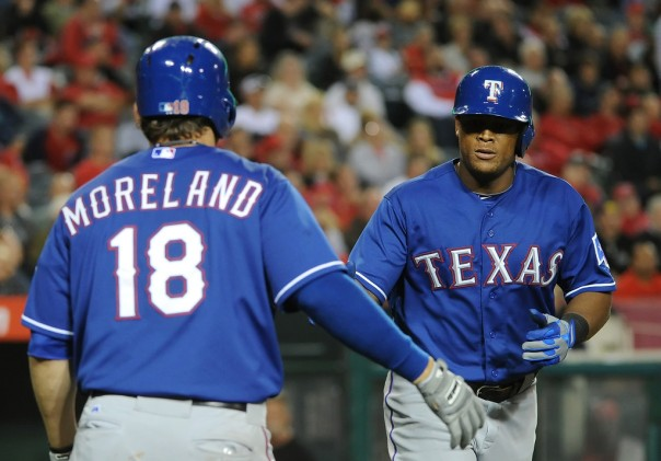Adrian Beltre has really started to heat up - having hit for HRs in 3 out of the last 4 games and driving 9 RBI in his last 8, with a .387 BA.  Moreland has hit 3 HRs in his last 2 Games - and has clubbed 6 Taters in his last 9 contests.  Both men are tied with teammate Nelson Cruz for the club lead at 9 (good to be tied for 5th In the American League)