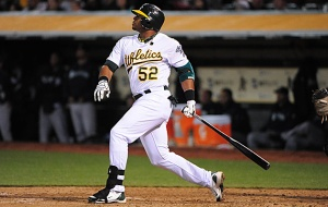 Yoenis Cespedes had an off year in 2013 after a great rookie season in 2012.  I think that 2014 will be the ultimate breakout year for this man, clubbing north of 35 HRs and knocking in 100 RBI.  Enjoy him for the next 2 years Oakland.