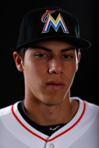 Christian Yelich is rated as the 13th Ranked Prospect by Baseball America in 2013.  He is from Thousand Oaks, California - and was the 23rd Overall Selection by the Florida Marlins in 2010 MLB Amatuer Entry Draft.
