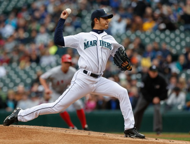 HIsashi Iwakuma is one of the top pitchers in the American League right now.  While he did not win the AL Cy Young, he had to be in the conversation.  The sophomore had a 14 - 6 record, a 1.006 WHIP (2nd in AL)  and a 2.66 ERA (3rd in the AL).  He will start the year on the DL (thanks to a Spring Training mishap on his finger via the pitching net), but once he returns, the Mariners have one of the best 1 - 2 starting tandems in the MLB,