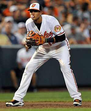 Machado was taken 3rd overall in the 2010 MLB Amateur Draft, and has already lugged over 1100 AB in the Majors.  He may be the best defender in the infield in all of the Majors already.  The 3B is just 22 - and should be part of the core in Baltimore for at least the next half a dozen years.  After a slow start in 2014 - while healing from a leg injury. he is hitting over .400 since coming back from his suspension.