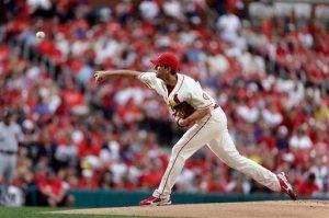 St. Louis Cardinals starting pitcher Adam Wainwright keeps owning baseball! (AP Photo/Jeff Roberson)
