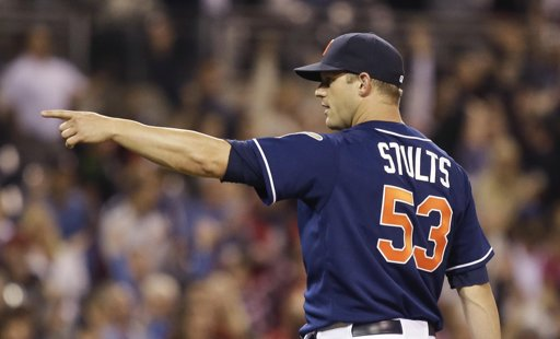 Stults, the number one starter, is 6-5 with a great 3.28 ERA over 90.2 innings. Marquis has gotten more run support, holding an outstanding 9-2 record with a 3.63 ERA over 84.1 innings. Pitching in the notorious pitcher's haven that is Petco Park helps, but I think that it is safe to say that these starters are the real deal. AP Photo/Lenny Ignelzi