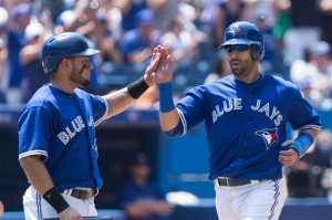 Melky Caberera (Left) has joined teammate Joey Bats for the club lead and AL lead with 3 HRs.  He has smacked long balls in 3 straight games.