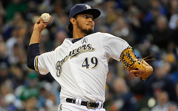 Gallardo has been a good pitcher for the Milwaukee Brewers in his Career.  He is 75 - 49 (.605) with a 3.70 ERA.  He is coming off two seasons in a row during 2011 and 2012, where he was north of 200 IP.  So far this campaign, he has lugged 87.2 IP in his NL Leading 15 Starts