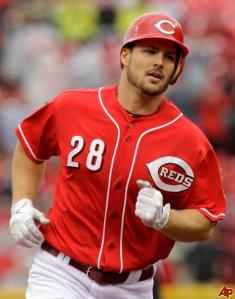Although Chris Heisey was only batting .173 when he went down, he's shown he's good off the bench, and his role as a 4th outfielder. Unfortunately for now his chance to prove he's ready to take the next step has been put on hold.