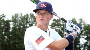 Austin Meadows hit .535. with 4 HR and 17 stolen bases for Grayson High School in Georgia.