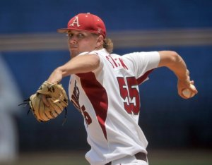 Ryne Stanek has a 1.39 ERA in sixteen starts for the University of Arkansas.