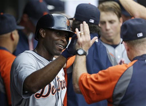 Torii Hunter has hits HRs in  3 straight games heading into tonight's game versus the LA Dodgers at Dodger Stadium.  He will be facing stiff power competition in Hanley Ramirez and Matt Kemp - who are both coming off Multi - HR games on Sunday night.  It has been the only time this year that guys on the same team have clocked 2 HRs.  Hunter is 38 years old, and in the last year of his deal with the Tigers.