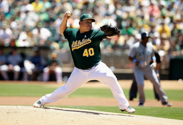 Bartolo Colon is anchoring the rotation for the Athletics this season. he is one of the mnay reasons why they have jumped out to huge division lead this season. He has already won 14 games for them this season to go along with an ERA of 2.54 in 141.2 innings pitched. He is not the strikeout pitcher he was in the past, but is still effective against the opposition. Colon has displayed great control this season by only walking 18 batters and he has a 1.09 WHIP. He is 4th with a WAR of 4.5 for pitchers in the AL. He is also 2nd in the AL with Win-Loss percentage of.824