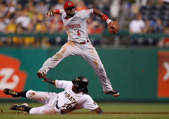 Brandon Phillips is one of the players leading the charge of offense for the Reds this season.  He has a .261 batting average with a .716 OPS to go along with 12 HRs and 81 RBIs in 387 at-bats. He is great at playing defense with him winning the Gold Glove Award at second base multiple times in his career. He often makes highlight reel plays on a daily basis, and that is one reason he has the 2nd best Fielding % in the NL at second base with it at .987. Phillips has a batting average of .260 against right-handers, and is hitting .262 dealing with southpaws. He is outstanding with runner in scoring position, as indicated by a .396 average and a 1.011 OPS with 68 RBIs in this situation.