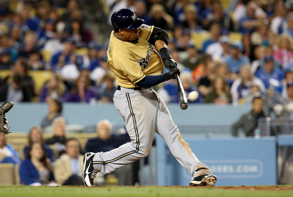 "Carlos Gomez had a breakout season in 2013 with a career high 40 SB. Gomez added 61 Extra Base Hits, his 1st ALL - Star Game and brought home his 1st Gold Glove Award for CF. "" Carlos Gomez, 28,  had a breakout season in 2013 with a career high 40 SB. Gomez added 61 Extra Base Hits, his 1st ALL - Star Game and brought home his 1st Gold Glove Award for CF - and also was among players who had 20 HRs and 20 SB .  So far he is tied for 5th in the NL with 5 HRs, but only has 1 SB heading into action today."