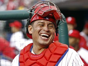 What a perfect guy to bring in short term for the Red Sox.  Chooch calls great games, has a ton of playoff experience, and wouldn't cost as much as other backstoppers on the FA Market.  This would save money for more pitching for the Boston club.