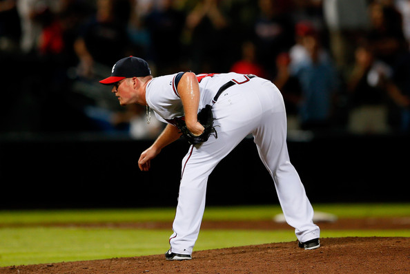 Craig Kimbrel is one of the best young closers in baseball. He has saved 27 games this season for the Braves and with only three blown saves. The hard-throwing righty has a 1.49 ERA with 57 strikeouts and 13 walks in 36.1 innings pitched. He has a WHIP of 0.99 and 14.1 SO/9. The opposition is just hitting .181 against him, and he is holding right-handed batters to a .140 average. He is holding opposing teams an average of just .129 when runners are in scoring position. They  fare a little better with runners on and two outs with a .176 average.