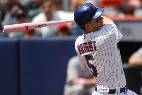 David Wright has saved the Mets franchise from being ridiculed something fierce by signing that massive extension he did over a year ago.  He has been as steady as ever from the hot corner the last few years, and at least has Curtis Granderson to hit with him in the middle of the lineup.  He should hit for around a .300 BA, and reach base at a near .400 clip.  His offense and defense will not be enough to stop another losing season in Flushing Meadows, NY.