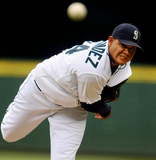 Felix Hernandez has been the face of the Seattle Mariners since 2009 when he won 19 games for the Mariners.  He followed up with a CY Young season in 2010.  Last year, the King was having another typical Hernandez campaign - 12 - 6, with a 2.63 ERA.  He was recently handed a 7 Year/$175 MIL extension.  The club has never given him ample run support.  Hernandez has a career 3.16 ERA - but is only 110 - 83 (.570).  he is also a workhorse.  He leads the AL with IP (184.2) and will top the 200 frame mark for the 5th straight year.  It would be nice if the franchise could get to the point where they compete around him.