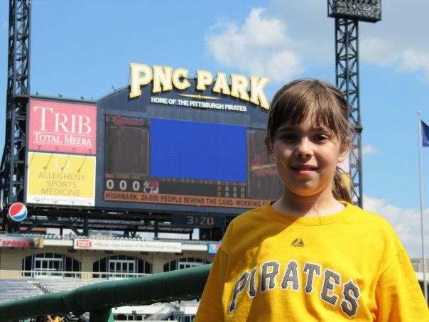 Haley Smilow at PNC Park.  She has interviewed a good bunch of MLB Players in her young career, and we are very proud to present her awesome work with us on a regular basis.  Keep up the good work Haley!!