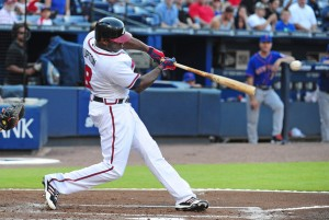 The Braves acquired a very talented outfielder in  Justin Upton just before the 2013 season. He started off the season, but has cooled off recently. He has a .258/.354/.812 triple-slash with 16 HRs and 46 RBIs in 341 at-bats. The one area of concern for him is that he has struck out 102 times already this season.