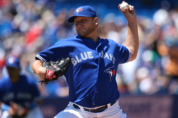 Mark Buehrle has been  a consummate professional in his 2 years with the Jays.  with a workman like 405 IP in his 2 campaigns, he holds a 25 - 20 record, with a 3.77 ERA and 1.351 WHIP in a tough AL East.  The 36 Year Old LHP will earn $20 MIL this season - and will be a Free Agent after the year.