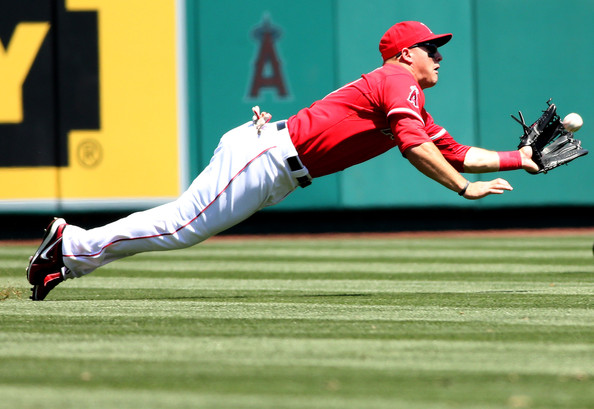 Mike Trout is one of the best young outfielders in the game of baseball today. He is currently carrying the Angels on offense right now, but he needs some help as he can't do it all by himself. He is once again having a stellar year on offense with a .324/.402/.965 triple-slash on the season to go along with 16 HRs and 61 RBIs. He is also a threat on the base paths as well with him swiping 22 bases and has only been caught four times. The right-hander is hitting  .323 against righties, while handling left-handers with no issues, as has a .326 average against  them.