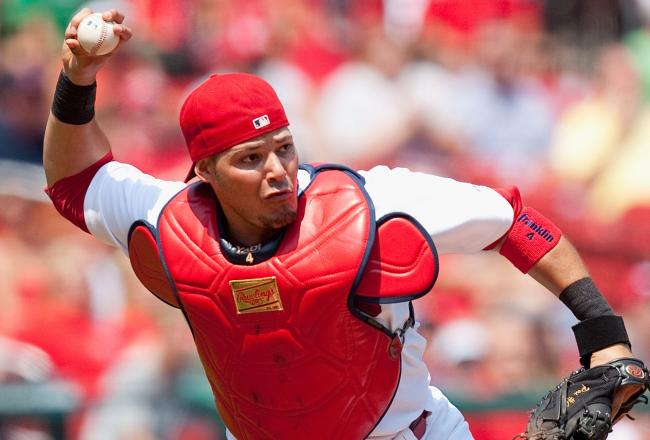 Yadier Molina Catching 2013 Five Cardinals Named T...