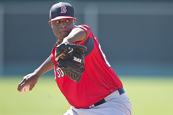 I think Rubby De La Rosa is a good option to close or at least pitch for the Red Sox this year. Some people project him to be a late inning reliever as a Major Leaguer, but he too is coming off TJ surgery recently. They limited his innings early in the season to have him available for later in the year, but relieving might not be a bad thing for his arm either. He's thrown well in AAA and I think he's ready for a chance to toss some innings at Fenway.