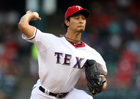 Yu Darvish is one of the right-handed pitchers in baseball. He is a strikeout machine, and he leads the American League in strikeouts with 157.