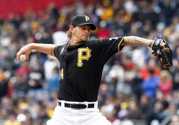 A.J. Burnett is showing that he is not a one-hit wonder by having another solid year pitching for the Pirates in their rotation. He leads the club in strikeouts with 160 on the season in 145.2 innings pitched with a WHIP of 1.22. He has allowed nine Home Runs with him walking 53 batters. Burnett has a strikeout per nine of 9.9 and is holding opponents to a batting average of .231. He has been very tough on right-handers by holding them to an average of .203 in 286 at-bats. The right-hander is just as good with runners in scoring position, as indicated by teams just hitting .188 in this situation.  When there are two outs and runners in scoring position, he limits teams to a .197 average.