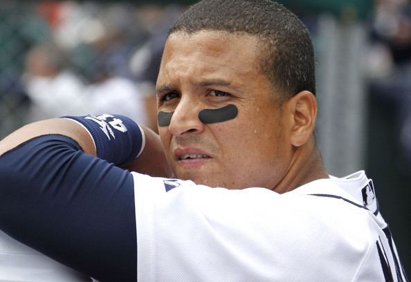 Victor Martinez has thrived offensively in Detroit hitting behind Miguel Cabrera.  Aside from the 2012 injury where he missed the whole season to a broken ankle.  V-Mart's 3 Slash Line for the Tigers is .321/.379/.486 - with 56 HR and 283 RBI in 1656 AB for the squad.  2014 is the last year of the 35 year old's 4 YRs/$50 MIL deal, and he will be on the open market after this campaign.  This was another good reason to bring in David Price by trade to win the elusive World Series.  There is no guarantee the Tigers could afford to bring him back for 2015 or beyond.