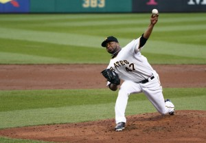 "Liriano was a dominant ace in 2013, putting forth a top 10 NL Cy Young Finish (9th), while winning a career high 16 games, only losing 8 and having a 3.02 ERA.  He kicked in his 2014 salary for $7 MIL after making a a valued $1 MIL in 2013.  The problem is that the LHP doesn't ever back up a good year with another.  AKA ""The Bret Saberhagen Syndrome.""  Liriano at least has had his career prolonged by his Tj Surgery."