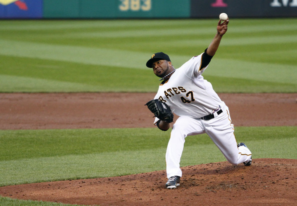 "Liriano was a dominant ace in 2013, putting forth a top 10 NL Cy Young Finish (9th), while winning a career high 16 games, only losing 8 and having a 3.02 ERA.  He kicked in his 2014 salary for $7 MIL after making a a valued $1 MIL in 2013.  The problem is that the LHP doesn't ever back up a good year with another.  AKA ""The Bret Saberhagen Syndrome.""  Since he is 0 - 4, with a 4.86 ERA thus far, our words of wisdom seem to be shaping up.  NO 2013 Liriano, no playoffs."