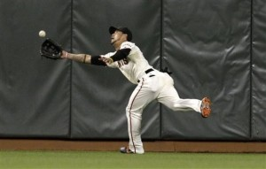 Gregor Blanco has been playing a much bigger role in Pagan's absence.  While Blanco is a great defensive outfielder, he can't quite match the production that Angel Pagan is capable of.