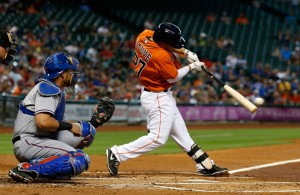 For a while last tear, Jose Altuve was the only current Astro that has guaranteed money in 2014, that is not on an entry - level contract.  The 2012 ALL - Star has a Career 3 Slash of .285/.323/.700 - with 75 SB and 400 Hits in his 363 Games Played.  Altuve was extended to a 4 YR/$12.5 MIL deal, with two Team Options in 2018 ($6MIL) and 2019 ($6.5).  He will be in Houston until 2018 at the minimum.