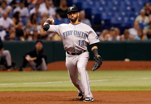 Jose Bautista is one of the  power threats in the line up for Toronto. He has rebounded nicely this season, after injuries cut his 2012 season short. He has a .261/.357/.857 triple-slash in 2013 with 27 HRs and 72 RBIs in 440 at-bats. He has 51 extra-base hits on the season, with 115 hits overall to go along with 220 Total Bases. He fares better against right-handers with a .263 batting average in 350 at-bats against them, while he is just hitting .256 facing southpaws. Bautista is still a threat with runners in scoring position, as indicated by his .301/.410/1.002 triple-slash with 6 HRs and 45 RBIs in this situation. He is still solid with two outs and runners in scoring position with a .306 batting average and 17 RBIs. They need him to stay healthy to contend in 2014.