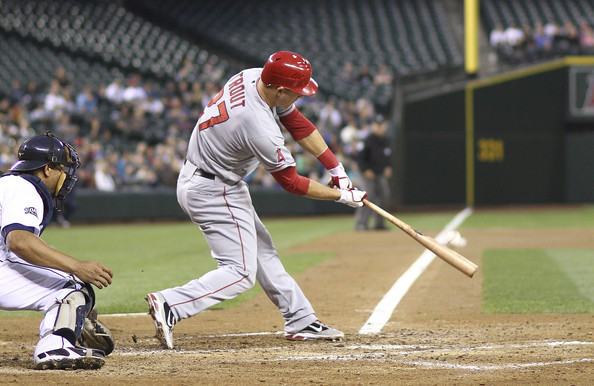Mike Trout is one of the best young players in the game of baseball today. The outfielder plays great defense by using his tremendous speed to track down fly balls. He is also a great hitter that can hit for both power and a high average. Trout has a .330/.425/.996 triple-slash on the season in 446 at-bats with 20 HRs and 73 RBIs.  He has 60 extra-base hits and 225 Total Bases to include 147 hits overall. He is still a legitimate threat to steal bases with 26 on season already, and has only been caught four times. He can easily have another 30-30 season. He is a right-handed hitter, but handles southpaws with relative ease, as indicated by his .330 average against them. The young outfielder is a terror for opposing pitchers with runners in scoring position with a .303/.433/.937 triple-slash in 107 at-bats that includes 51 RBIs.