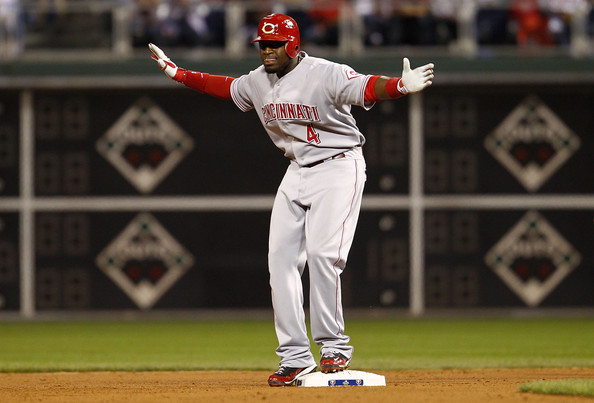 Brandon Phillips is having one of the best, worst seasons at the plate. He has knocked in now 96 runs but is only hitting .267. He gets all of those Runs Batted In because he has two of the best players in the National League getting on base in front of him in Shin-Soo Choo and Joey Votto. None the less he is driving in runs to help the Reds win games.